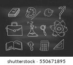 set of hand drawn school icons. | Shutterstock .eps vector #550671895