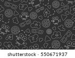 seamless pattern of movie... | Shutterstock .eps vector #550671937