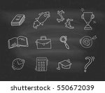 set of hand drawn business icons | Shutterstock .eps vector #550672039