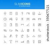 minimalistic slim line... | Shutterstock .eps vector #550677121