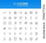 minimalistic slim line finance  ... | Shutterstock .eps vector #550677151