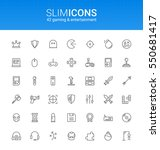minimalistic slim line gaming   ... | Shutterstock .eps vector #550681417