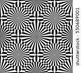 abstract vector seamless op art ... | Shutterstock .eps vector #550689001