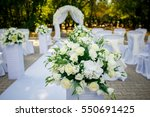 decorations for the wedding... | Shutterstock . vector #550691425