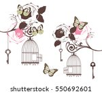 vector illustration of vintage... | Shutterstock .eps vector #550692601