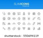 minimalistic slim line pet  ... | Shutterstock .eps vector #550694119