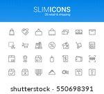 minimalistic slim line retail   ... | Shutterstock .eps vector #550698391
