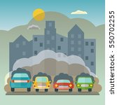 cars pollute the environment. | Shutterstock .eps vector #550702255