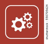 gears  icon   isolated. flat ... | Shutterstock .eps vector #550705624