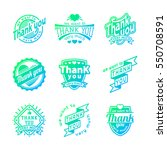 thank you text lettering vector ... | Shutterstock .eps vector #550708591