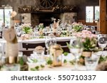 wedding table decorations | Shutterstock . vector #550710337