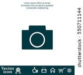 camera icon | Shutterstock .eps vector #550711144