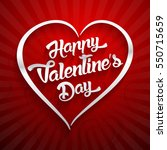 happy valentines day... | Shutterstock .eps vector #550715659