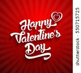 happy valentines day... | Shutterstock .eps vector #550715725