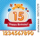 happy birthday card design with ... | Shutterstock .eps vector #550717279