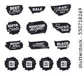 ink brush sale stripes and... | Shutterstock .eps vector #550718269
