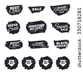 ink brush sale stripes and... | Shutterstock .eps vector #550718281