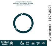 circular arrows vector icon | Shutterstock .eps vector #550718374
