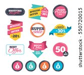 sale stickers  online shopping. ... | Shutterstock .eps vector #550720015