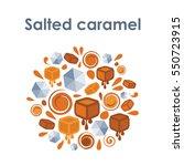 vector illustration of salted... | Shutterstock .eps vector #550723915