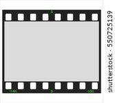 blank frame of film on white...