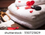 wellness decoration  | Shutterstock . vector #550725829