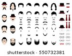 different vector design... | Shutterstock .eps vector #550732381