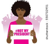 woman protesting not my... | Shutterstock .eps vector #550732951