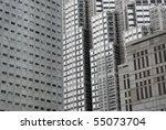 skyscraper with windows and... | Shutterstock . vector #55073704
