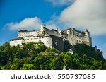 beautiful view of salzburg... | Shutterstock . vector #550737085