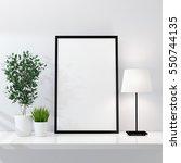 poster frame mockup 3d rendering | Shutterstock . vector #550744135