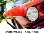 fragment of red retro car   Shutterstock . vector #55074508