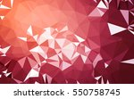 abstract low poly background ... | Shutterstock . vector #550758745