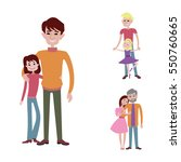father kids family son and...   Shutterstock .eps vector #550760665