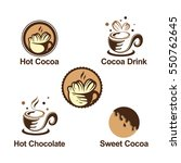 hot sweet cocoa chocolate logo... | Shutterstock .eps vector #550762645