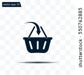 vector shopping basket icon | Shutterstock .eps vector #550762885