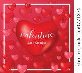 happy valentine day  gift... | Shutterstock .eps vector #550771375