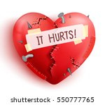 broken heart wounded in red... | Shutterstock .eps vector #550777765