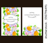 romantic invitation. wedding ... | Shutterstock . vector #550796491