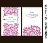 romantic invitation. wedding ... | Shutterstock . vector #550796545