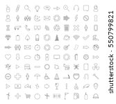 thin line icons on a white... | Shutterstock .eps vector #550799821