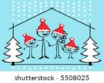 christmas family cartoon  ... | Shutterstock .eps vector #5508025