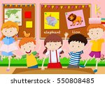 five students learning in the... | Shutterstock .eps vector #550808485