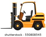 forklift in yellow color... | Shutterstock .eps vector #550808545