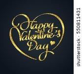 gold glitter of valentines day... | Shutterstock .eps vector #550811431