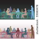 two color versions of the same... | Shutterstock .eps vector #55083478