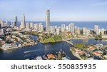 aerial view of gold coast... | Shutterstock . vector #550835935