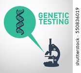 genetic testing logo vector... | Shutterstock .eps vector #550836019
