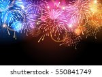 vector holiday firework.... | Shutterstock .eps vector #550841749