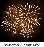 vector holiday firework.... | Shutterstock .eps vector #550841899